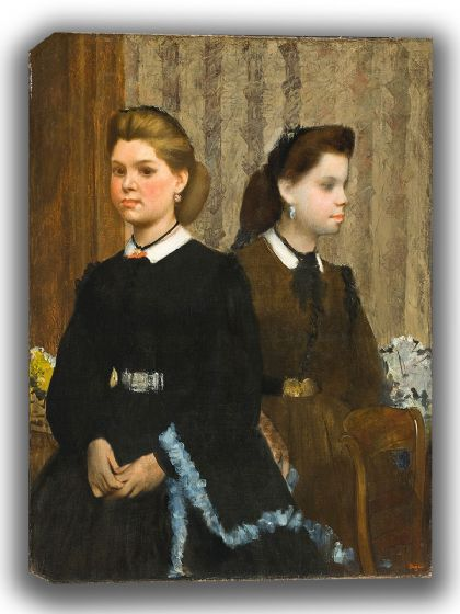 Degas, Edgar: The Bellelli Sisters. Fine Art Canvas. Sizes: A4/A3/A2/A1 (003763)